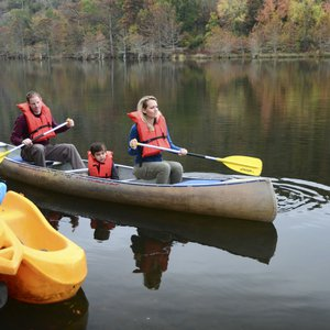 Several canoe outfitters provide canoe rentals so visitors can enjoy the Mountain Fork River in and around Beavers Bend State Park in southeastern Oklahoma.