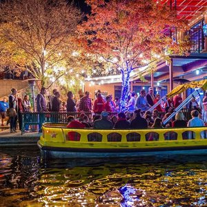 Embark on a free water taxi ride during Downtown in December in Oklahoma City.