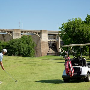 Gear up for a game of golf surrounded by scenery at Grand Cherokee Golf Course. Photo by Lori Duckworth.