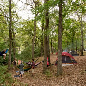 Travel with your tent and hammocks for the ultimate get-in-touch-with-nature experience at Beavers Bend State Park. Photo by Lori Duckworth/Oklahoma Tourism.