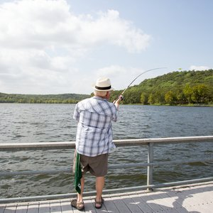 Choose a water activity at the Greenleaf State Park docks, from fishing to boat rentals. Photo by Lori Duckworth.
