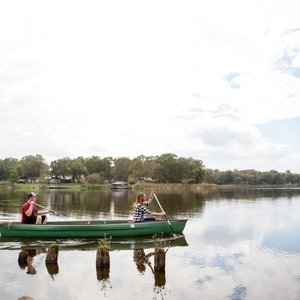 Stake your claim on a canoe for a tour of Lake Raymond Gary at Raymond Gary State Park. Photo by Lori Duckworth.