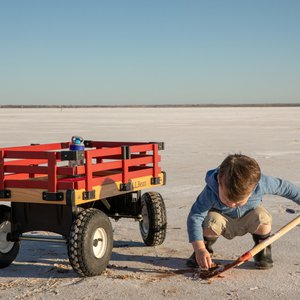 All ages are invited to spend the day digging at Great Salt Plains State Park from April 1-October 15. Photo by Lori Duckworth.