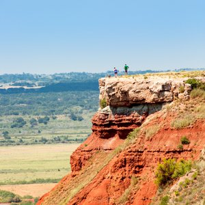 Trek up to the summit of Gloss Mountain State Park in Fairview. Photo by Lori Duckworth.