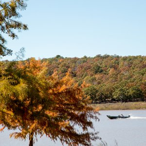 Keystone State Park offers scenic fall foliage in Sand Springs. Photo by Lori Duckworth.