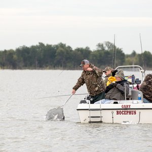Hit the Lake Texoma State Park waters for prime fishing opportunities in Kingston. Photo by Lori Duckworth.