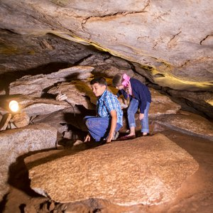 All ages are invited to explore Alabaster Caverns State Park natural wonders. Photo by Lori Duckworth.