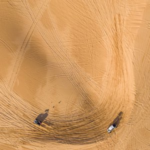 Hit the 1600 acres of sand dunes at Little Sahara State Park. Photo by Shane Bevel.