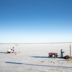 Many visitors leave Salt Plains State Park with crystals in tow. Photo by Lori Duckworth.