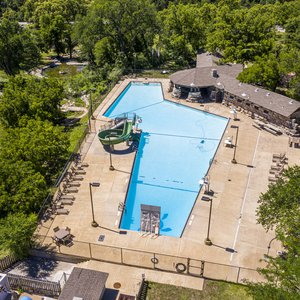 Boiling Springs State Park is full of adventure in Woodward, including its popular pool and water slide.