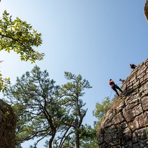Adventure awaits at Robbers Cave State Park. Photo by Lori Duckworth/Oklahoma Tourism.