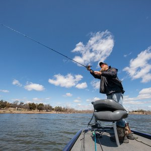 Fort Cobb State Park welcomes anglers with prime fishing throughout the year. Photo by Lori Duckworth/Oklahoma Tourism.