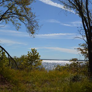 The nature trail provides beautiful views of Grand Lake.