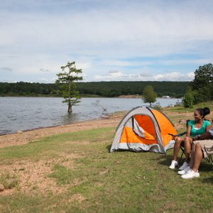 Pack up your camping gear and prepare for a night under the stars at Sequoyah Bay State Park. Photo by Rebekah Morrow.