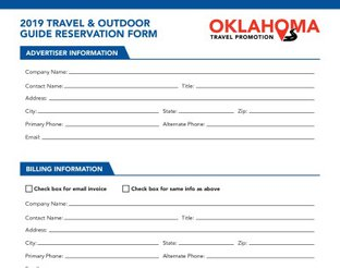 2019 Travel & Outdoor Guides Space Reservation Form