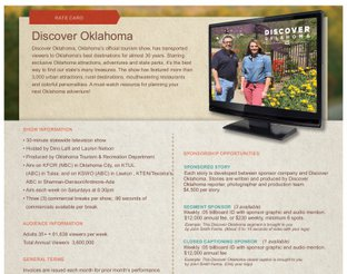 Discover Oklahoma Rate Card