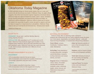 Oklahoma Today Rate Card
