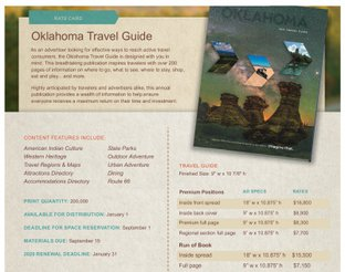 Oklahoma Travel Guide Rate Card