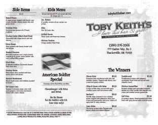 View Toby Keith's Menu
