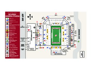 View Oklahoma Memorial Stadium Map