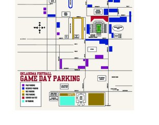 View OU Gameday Parking Map