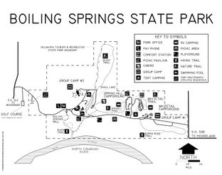 View Boiling Springs State Park Map