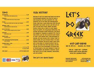 View Let's Do Greek Menu