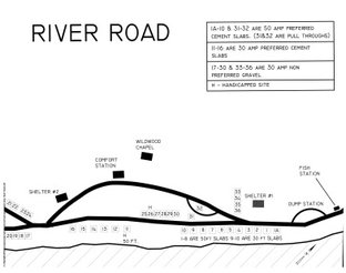View River Road Campground Map
