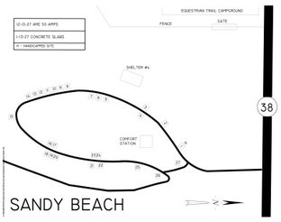 View Sandy Beach Campground Map