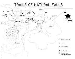 View Trails of Natural Falls Map