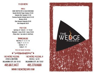 View Wedge Pizzeria Menu