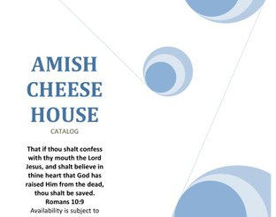 View Amish Cheese House Catalog