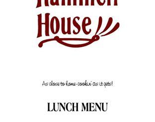 View Hammett House Lunch Menu