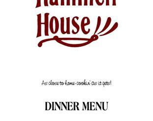 View Hammett House Dinner Menu