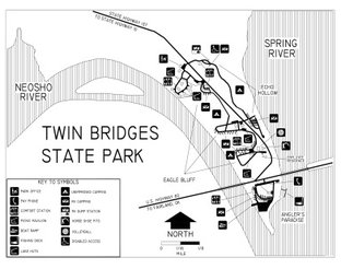 View Map of Twin Bridges Area