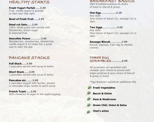 Lodge Restaurant Menu