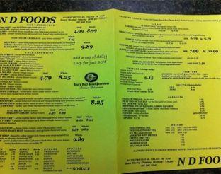 View ND Foods Menu