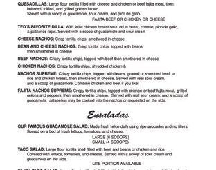 View Ted's Cafe Escondido Menu