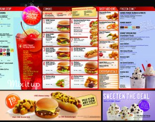 View Sonic Drive-In Menu