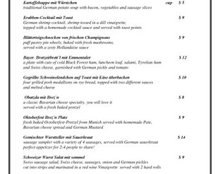 View Royal Bavaria Appetizer Menu
