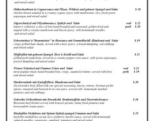 View Royal Bavaria Entree Menu