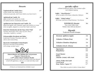 View Royal Bavaria Dessert Menu