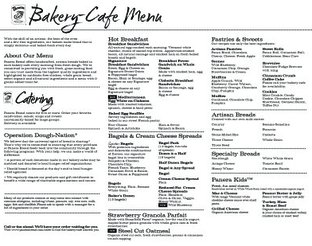 View Panera Bread Menu
