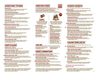 View Outback Steakhouse Menu