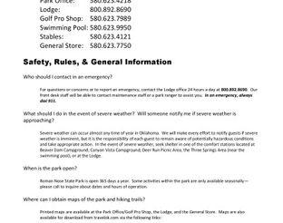 Roman Nose State Park FAQs