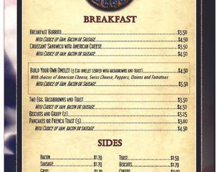 View Dog Iron Saloon Breakfast Menu