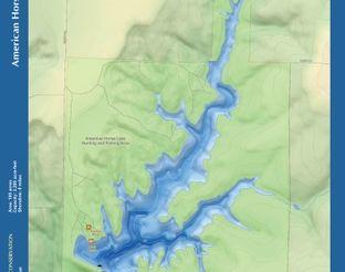View American Horse Lake Map