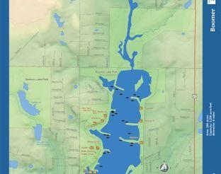 View Boomer Lake Map