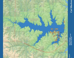 View Lake Carl Blackwell Map