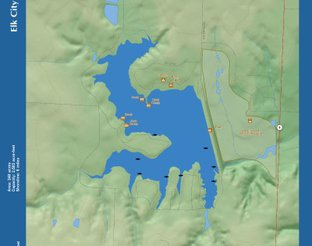View Lake Elk City Map